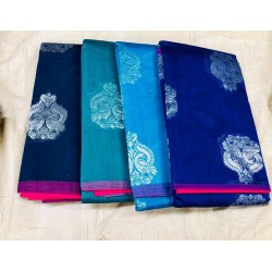 Korvai Uppada Silk Cotton Sarees