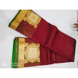 Kanchipuram Silk Saree - Maroon