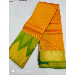 Kanchipuram Silk Saree - Orange