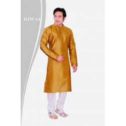 Solid color Dupion Silk Kurta with pant